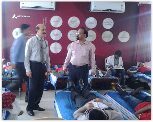 Axis Bank Young Bankers Program Blood Donation