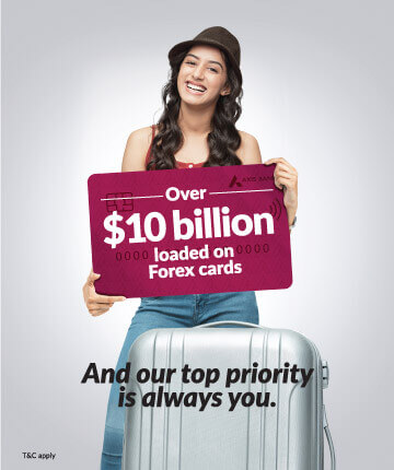 Apply now for Axis bank credit card where our top priority will always be you!