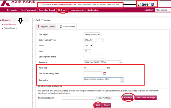 corporate banking axis bank form