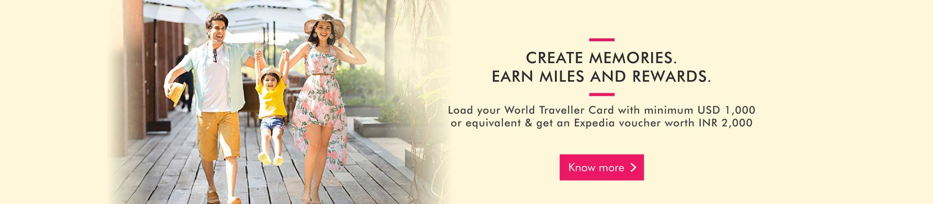 Expedia Miles & More Home Banner Web