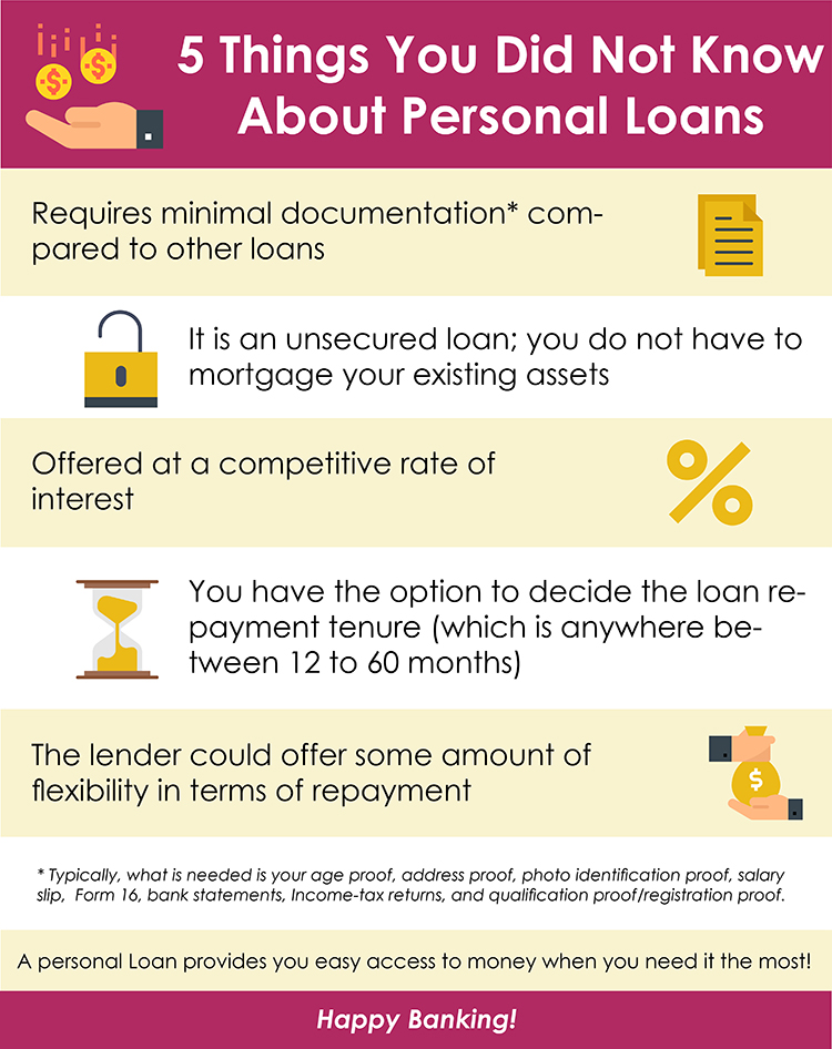 5 Things You Did Not Know About Personal Loans