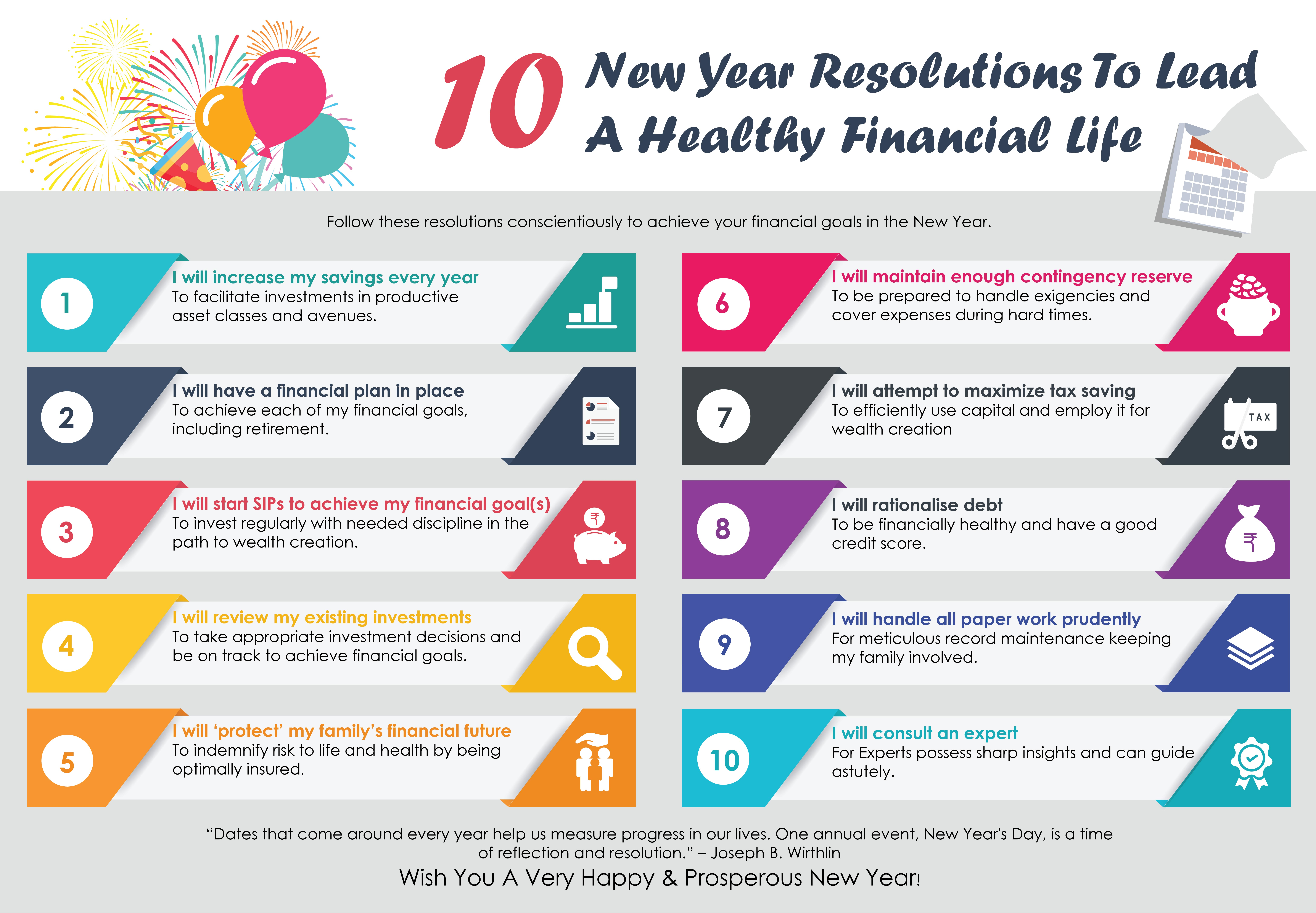 10 New Year Resolutions To Lead A Healthy Financial Life