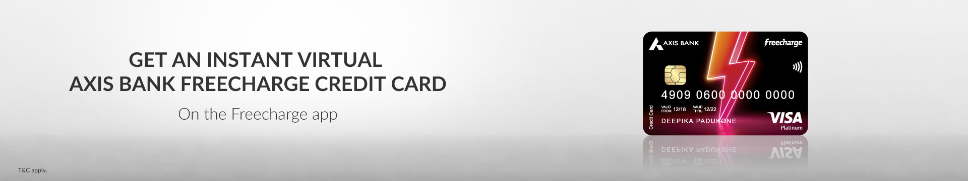 FreeCharge Credit Card Banner